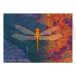 Flaming Dragonfly Greeting Card