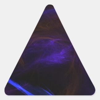 Flaming eagle triangle sticker