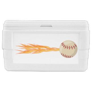 Flaming Fast Baseball Cooler