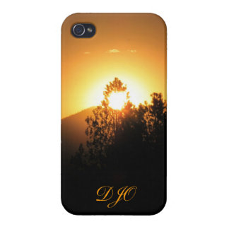 Flaming Fir with monogram iPhone 4 Cases