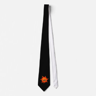 Flaming Fire Face Tie