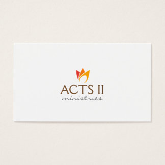 Flaming Fire (orange to red flames) Business Card
