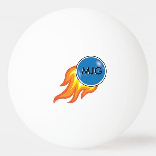 Flaming Fireball Personalised Ping Pong Ball