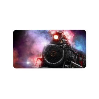Flaming Freight Train Address Label
