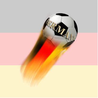 Flaming Germany Soccer Ball on Flag Photo Cutouts