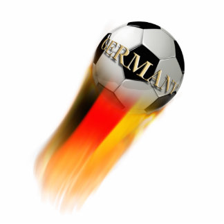 Flaming Germany Soccer Ball Acrylic Cut Outs