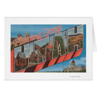 Flaming Gorge, Utah - Large Letter Scenes Card