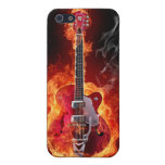 Flaming Guitar iPhone 4 Case