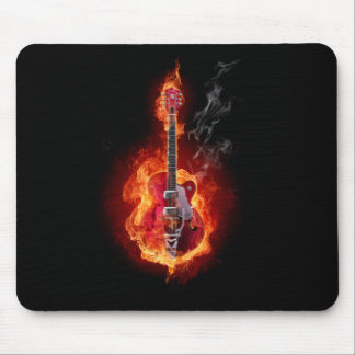 Flaming Guitar Mouse Mat