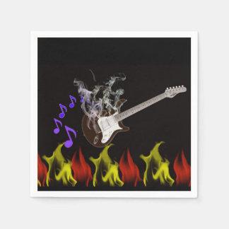 Flaming Guitar Paper Napkins