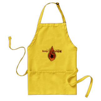 Flaming Guitar Standard Apron
