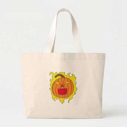 Flaming Halloween Pumpkin Bags