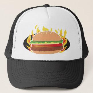 Flaming Hamburger Trucker Hat