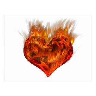 Flaming heart! postcard