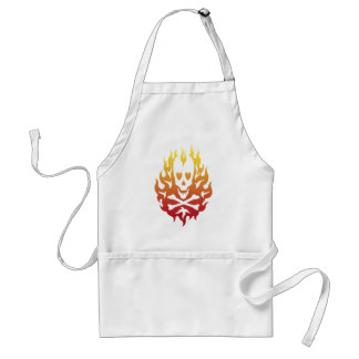 Flaming Heart Skull Chef's Apron