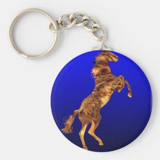Flaming Horse Spirit,Gifts Basic Round Button Key Ring