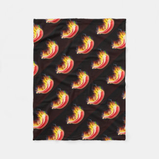 Flaming Hot Red Chilli Pepper Fleece Blanket