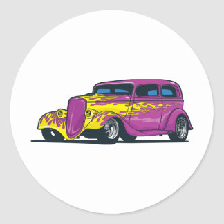 Flaming Hot Rod Stickers
