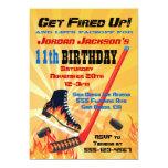 Flaming Ice Hockey Skating Party Invitations