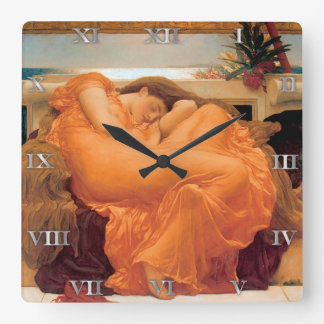 """Flaming June"" by Frederic Leighton - Clock"