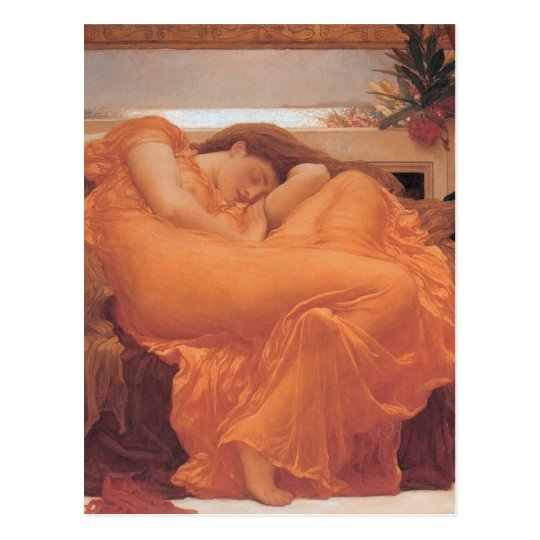 Flaming June by Frederick Leighton Postcard