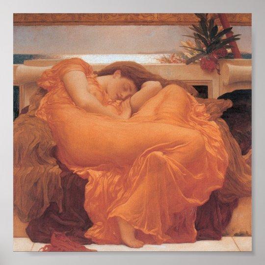 Flaming June, Leighton, 1895 Poster