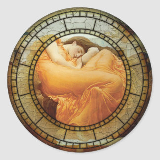 Flaming June Motif Classic Round Sticker