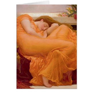 Flaming June Vintage Art Card