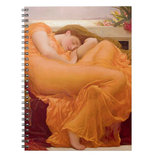 Flaming June Vintage Notebook