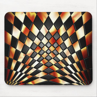 Flaming Mad Checkerboard Mouse Pad