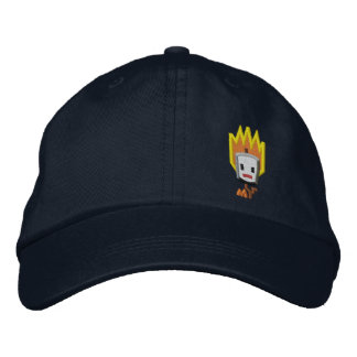 Flaming Mattson Marshmallow Hat: Left Front Style Baseball Cap