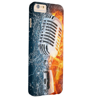 Flaming Microphone iPhone 6 Case Barely There iPhone 6 Plus Case