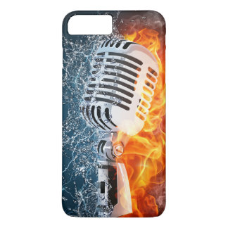 Flaming Microphone iPhone 7 Case