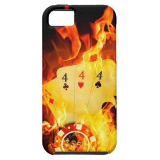 Flaming Poker Hand Tough iPhone 5 Case