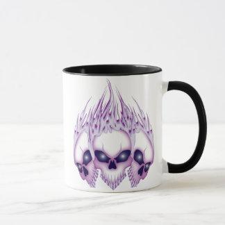 Flaming Purple Skulls