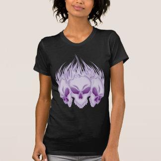 Flaming Purple Skulls T-shirt
