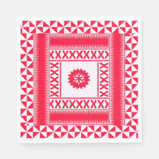 Flaming Red Ethnic Napkins Paper Serviettes