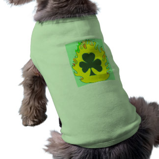 Flaming Shamrock doggy sweater Shirt