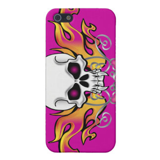 Flaming Skull and Hearts Cases For iPhone 5