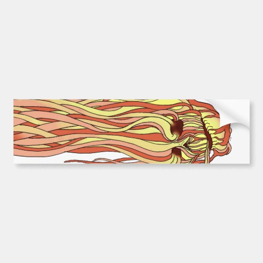 Flaming Skull Bumper Sticker