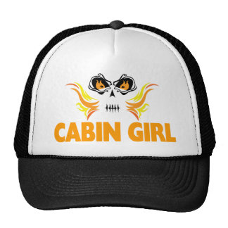 Flaming Skull Cabin Girl Cap