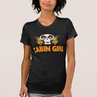 Flaming Skull Cabin Girl T-Shirt