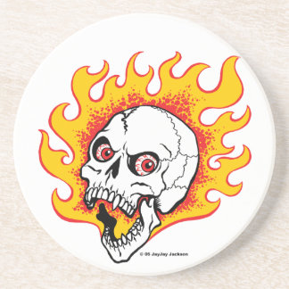 Flaming Skull Coaster