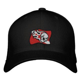 flaming skull dive flag embroidered hat