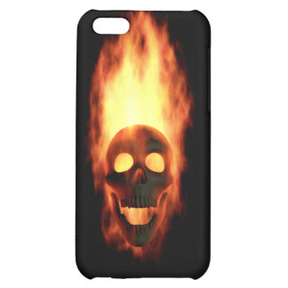 Flaming Skull Case For iPhone 5C