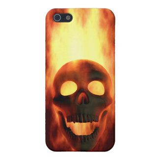 Flaming Skull iPhone 5 Cases