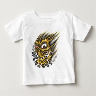 Flaming-Skull.jpg Baby T-Shirt