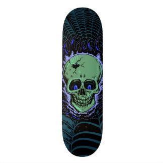 Flaming Skull Tattoo Custom Skate Board