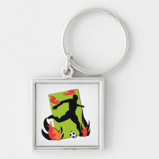 Flaming Soccer T shirts and Gifts Key Chains