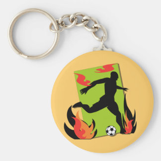 Flaming Soccer T shirts and Gifts Keychains